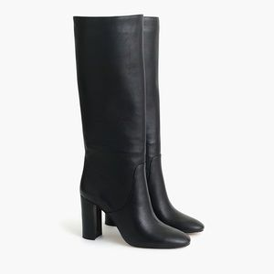 jcrew tall high heel leather riding boots 9m BNIB